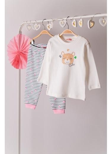 Zeyland Çizgili Altlı Pijama Takımı (1-4yaş) Çizgili Altlı Pijama Takımı (1-4yaş) Ekru